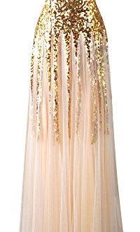 angel fashions damen gold paillette schatz tuell schnueren hochzeitskleid small 200x330 - Angel-fashions Damen Gold Paillette Schatz Tüll Schnüren Hochzeitskleid Small