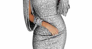 firss damen v ausschnitt paillettenkleid glaenzend maxikleider hochzeit abendkleider partykleid elegante festliches cocktailkleid 310x165 - FIRSS Damen V-Ausschnitt Paillettenkleid Glänzend Maxikleider Hochzeit Abendkleider Partykleid Elegante Festliches Cocktailkleid