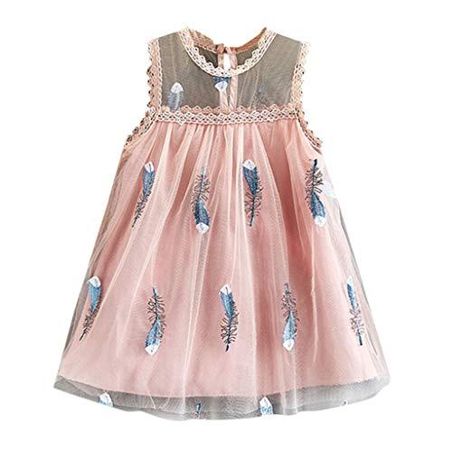 JiaMeng Mädchen Kleider, Spitze Prinzessin Rock Sommer Pailletten Kleider für Baby Kleinkinder Kinder Hochzeit Festkleid Party Kleid